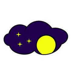 full moon icon icon cartoon vector image
