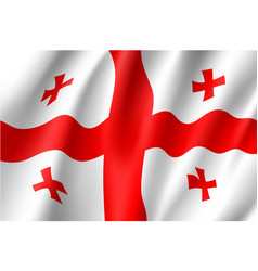 georgia national flag vector image
