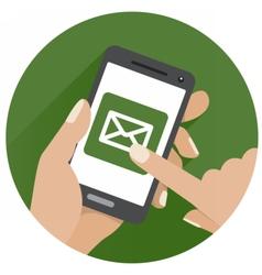 GreenFingerScreenMobileCommerce vector image