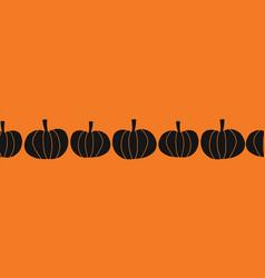 halloween pumpkins seamless border vector image