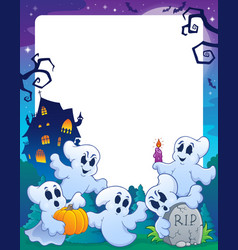 Halloween theme frame 1 vector