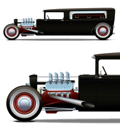 hot-rod hearse vector image