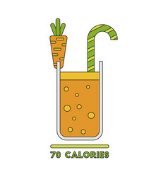 Icon in flat design carrot smoothies vector