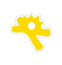 Icon sticker realistic design on paper vanilla vector
