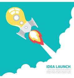 idea rocket launch vector image