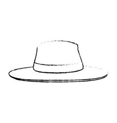 Isolated beach hat vector