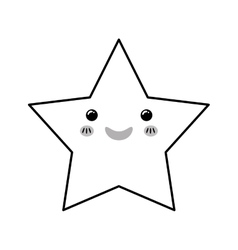Isolated star symbol vector