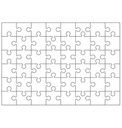 Jigsaw or tiling puzzles grid empty templates vector