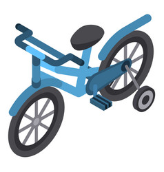 kid bicycle icon isometric style vector image