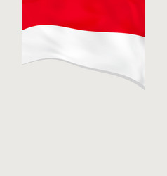 Leaflet design with flag indonesia template vector