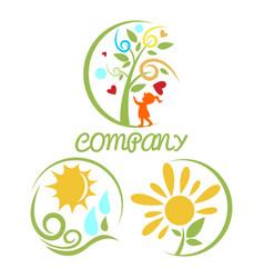 modern kindergarten logo vector image