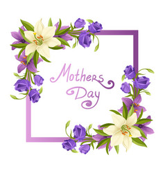 mothers day elegant card template with beautiful vector image