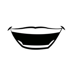 mouth man lips expression comic vector image