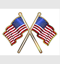 Old glory pin padge vector