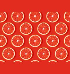 orange fruits slice seamless pattern on orange vector image