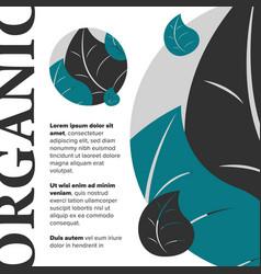 Organic food banner vector