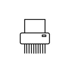 Paper shredder icon vector