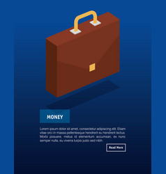 portfolio briefcase isometric icon vector image