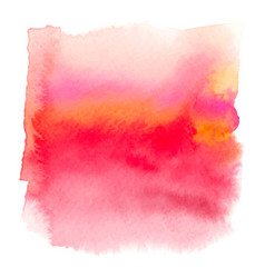 red color watercolor hand drawn gradient banner vector image