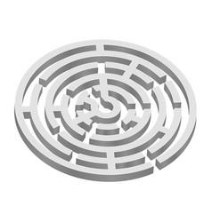Round 3d maze vector