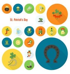 saint patricks day icon set vector image