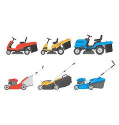 Set of lawnmower vector