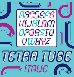 Set of trendy modern capital upper case alphabet vector