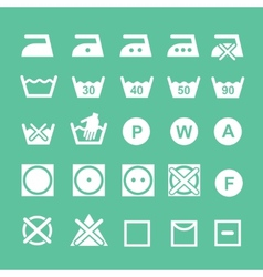 Set washing symbols washing instruction vector