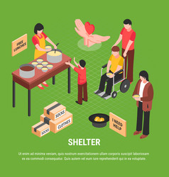 Shelter isometric poster vector