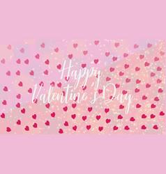 slogan happy valentines day invitation vector image