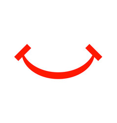 smile icon logo template design vector image