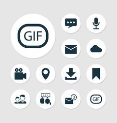 Social icons set collection partnership gif vector