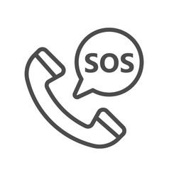 sos icon logo line megaphone pixel vector image