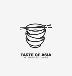 Taste of asia logo vector