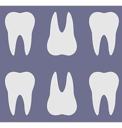 Teeth silhouette pattern vector image