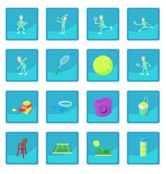 tennis icon blue app vector image