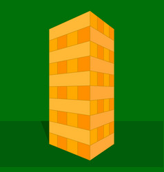 Tower game with hands wooden block game vector