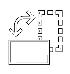 Transform tool line icon vector
