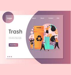 trash website landing page design template vector image