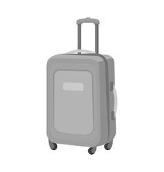 Travel luggage icon in monochrome style isolated vector