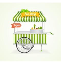 Vegetarian Shop Cart vector