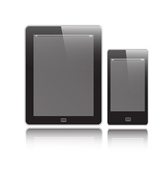 Vertical Tablet and Mobile vector image