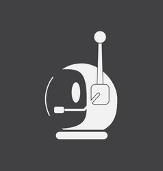 White icon on black background space helmet vector