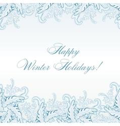 Winter Paisley Seamless Pattern vector image