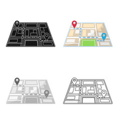 map with the route taxi movementtaxi station vector image