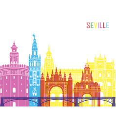 seville v2 skyline pop vector image vector image
