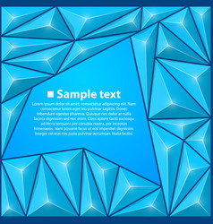 background with triangles blue vector image vector image