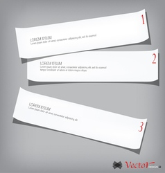 Collection of various white papers vector image vector image