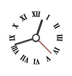Hands and numerals clock elements vector image