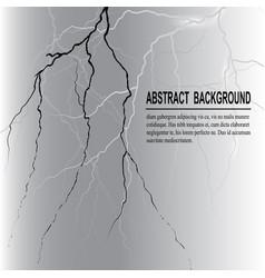 realistic lightning on dark background vector image vector image